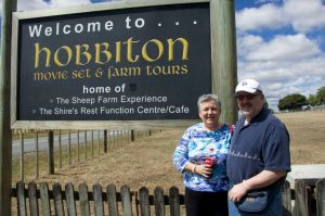 Sherry did see the sign at Hobbiton.